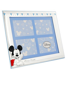 Disney Mickey Mouse Party Portafoto Frame Silver/Blue [17x21cm]