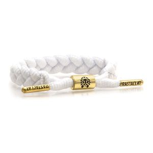 Rastaclat Zion II Braided Men's Bracelet White