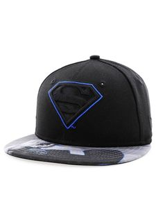 New Era Character Outline Superman Youth Boys Cap Blk/Blu Azure