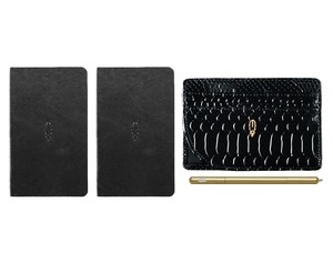 Inscribe Journals + Wallet + Pen Set Black Gold