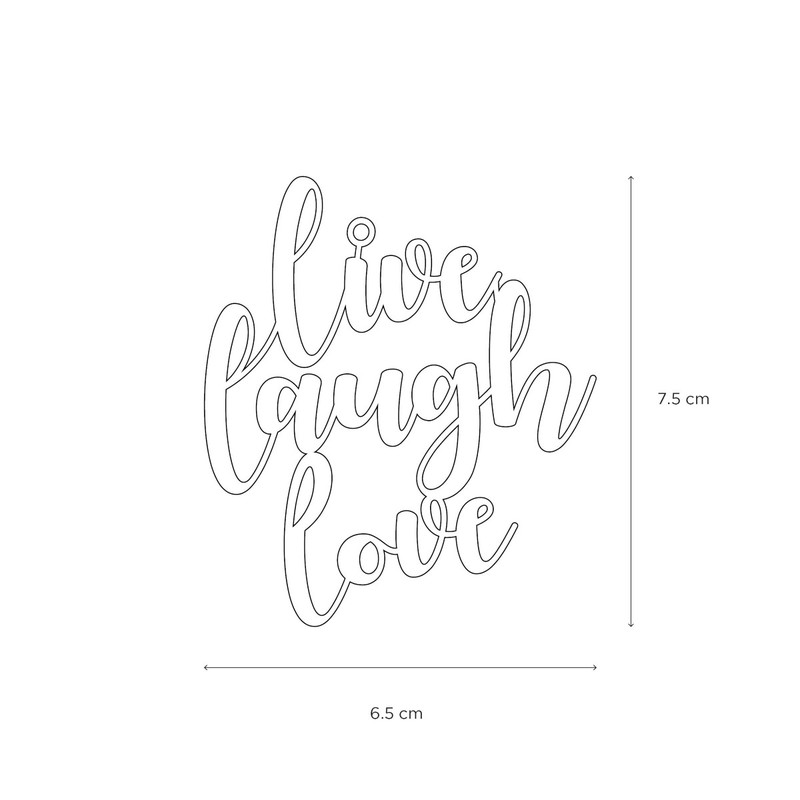 Letternote Live Love Laugh 24K Gold Plated Metal Bookmark