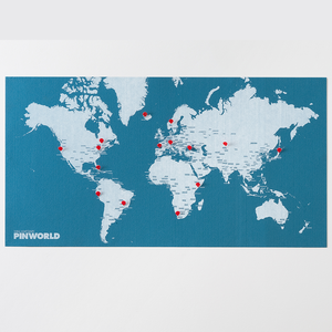 Palmor Pin World Light Blue Map
