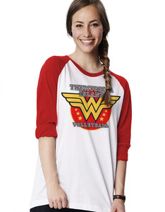 CID Wonder Woman Volleyball Baseball White/Red T-Shirt