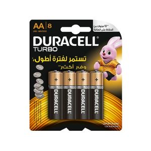 Duracell Turbo Alkaline Batteries AA [8 Pack]