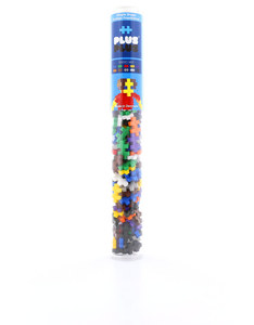 Plus-Plus Tube Mini Basic Mix Building Blocks [100 Pcs]