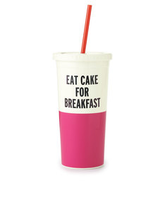 Kate Spade Tumbler With Straw Eat Cake For Breakfast