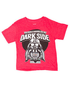 Mad Engine Star Wars Tiny Vader Red Heather Juvy T-Shirt