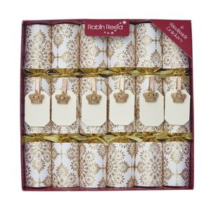 Robin Reed Mayfair Place Settings Glitters Christmas Crackers [Set of 6]
