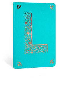Portico Design L Monogram Turquoise A6 Notebook