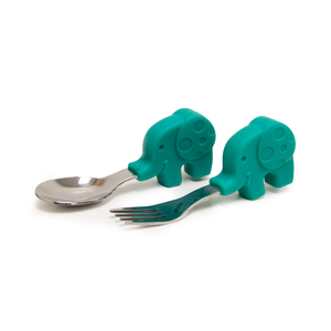 Marcus & Marcus Palm Grasp Ollie The Elephant Spoon & Fork Set