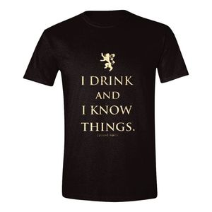 Time City Game Of Thrones I Drink And I Know Things Men's T-Shirt Black