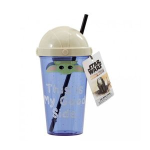 Funko Star Wars Mandalorian The Child Cup with Straw This Is My Good Side
