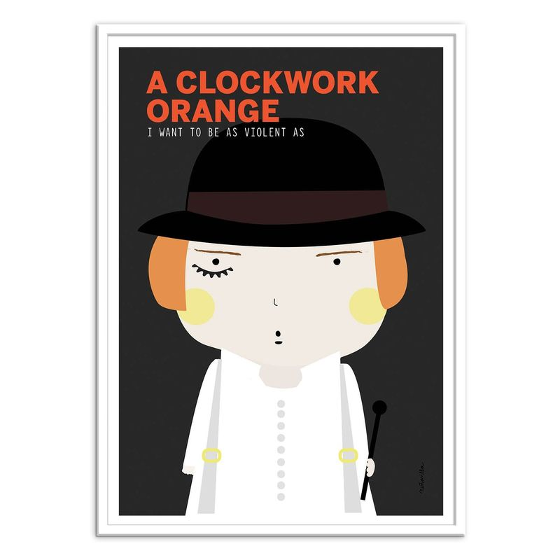 A Clockwork Orange Art Poster by Ninasilla [30 x 40 cm]