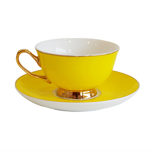 Bombay Duck Teacup & Saucer Sunshine Yellow