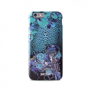 Puro Just Cavalli Leo Jewel Antishock Case Blue iPhone 6