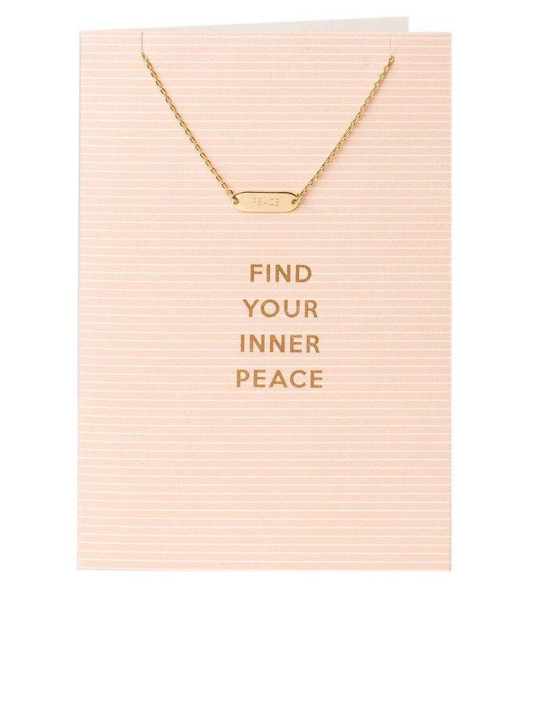 Orelia Gold Plated Find Your Inner Peace Necklace Gift Card ...