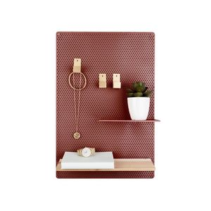 Present Time Memo Board Perky Mesh Iron Clay Brown
