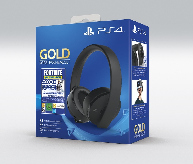 Sony Gold Wireless Gaming Headset For Ps4 Fortnite Voucher 2019 Ps4 Headsets Accessories Ps4 Gaming Virgin Megastore