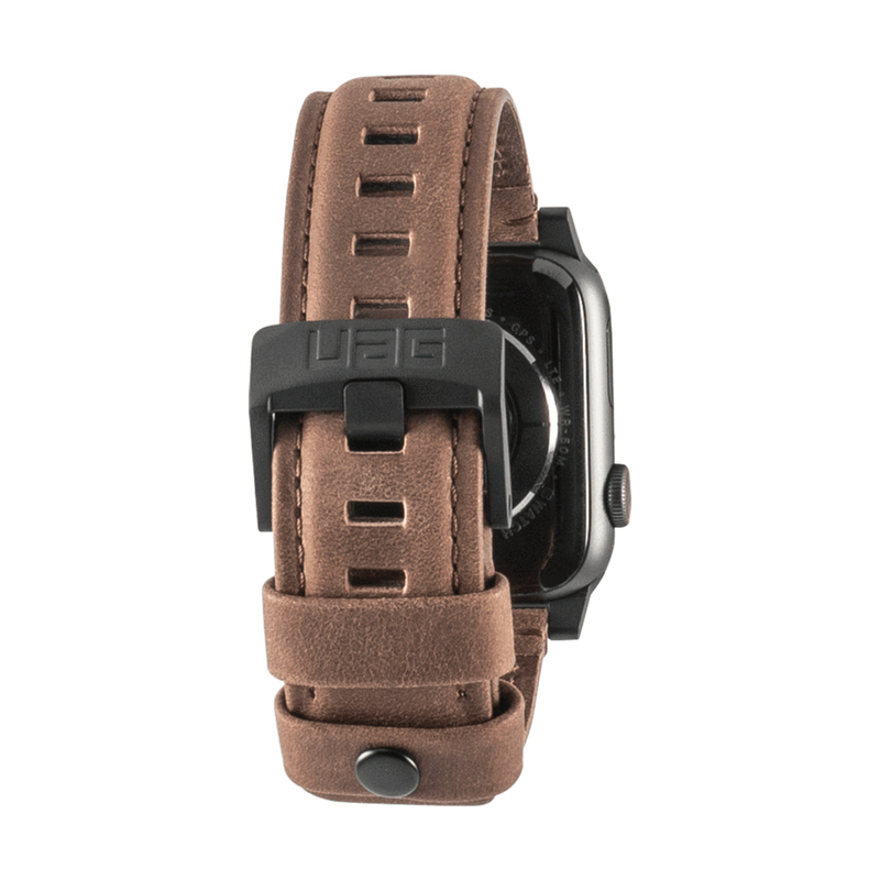 Uag 44 42mm Leather Strap Brown For Apple Watch