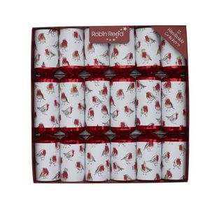 Robin Reed Piccadilly Party Glitter Robins Christmas Crackers [Set of 6]