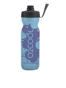 O2Cool Blue/Blue Splash Arcticsqueeze Surelock Top 20 Oz Water Bottle