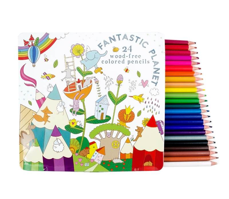 International Arrivals Fantastic Planet Colored Pencils [Set of 12]