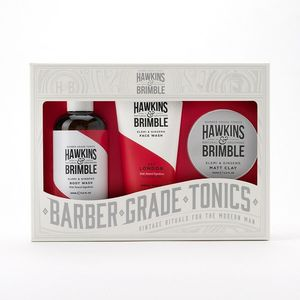 Hawkins & Brimble Root to Tip Grooming Gift Set [Includes Face Wash/Body Wash/Matt Clay]
