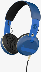 Skullcandy Grind Famed Royal Blue W/Mic Headphones