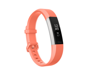 Fitbit Alta HR Coral Heart Rate + Fitness Wristband [Large]