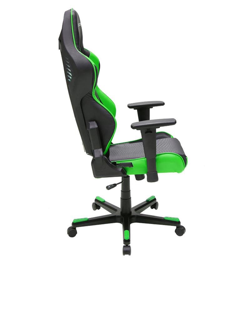 Dxracer Racing Series Led Black Green Gaming Seat Gaming