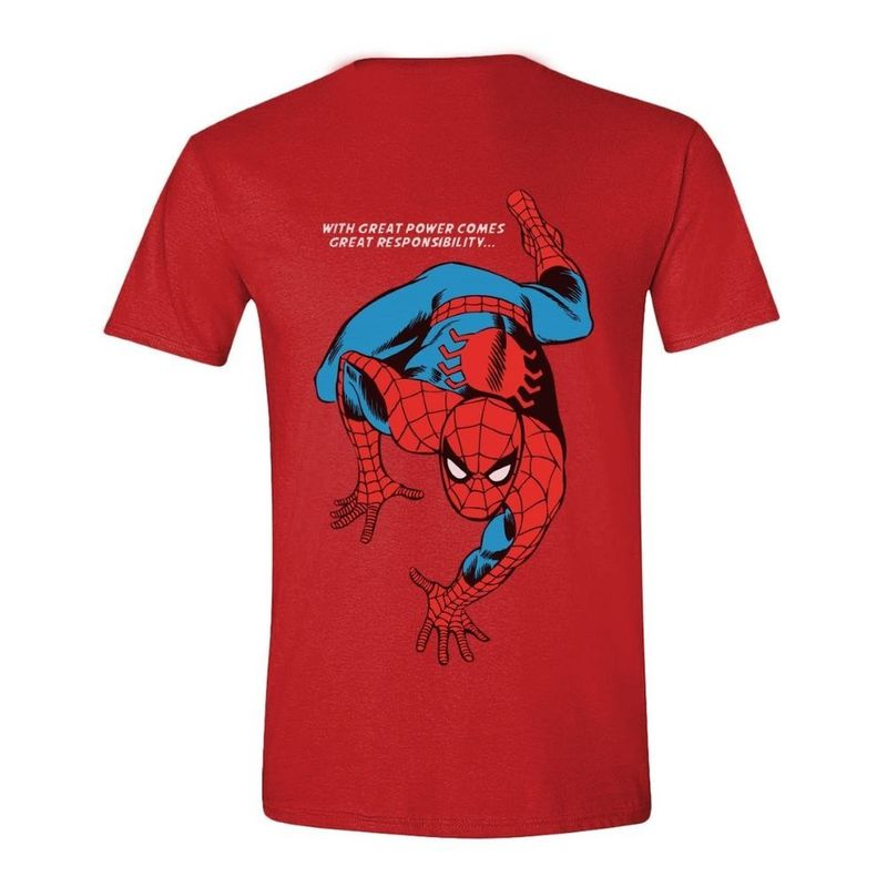 Time City Spiderman Crawling Men's T-Shirt Heather Red