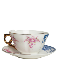 Seletti Hybrid Zenobia Porcelain Teacup With Saucer