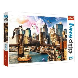 Trefl Funny Cities Cats In New York Jigsaw Puzzle [1000 Pcs]