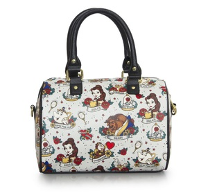 LOUNGEFLY DISNEY BEAUTY & THE BEAST BELLE TATTOO BAG