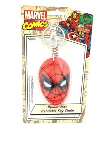NJ Croce Spider-Man Face Bendable Keychain