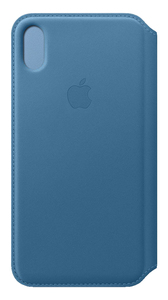 APPLE LEATHER FOLIO CAPE COD BLUE FOR IPHONE XS MAX