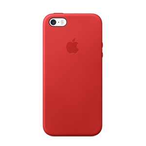 Apple Leather Case Red iPhone SE