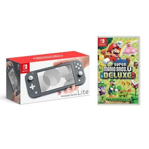 Nintendo Switch Lite Grey [US] + New Super Mario Bros.U Deluxe