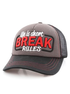 B180 Life Is Short Break Rules Cap Black/Grey