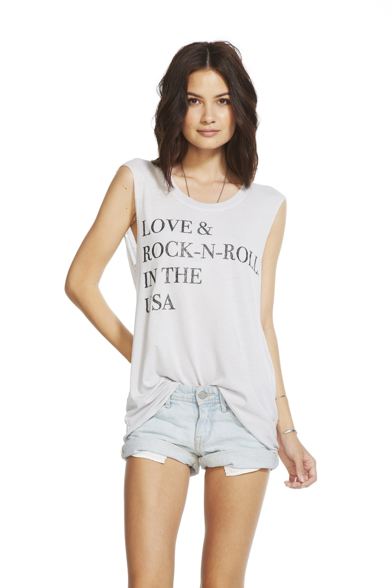 Chaser Love And Rock-N-Roll Cloud Women's T-Shirt