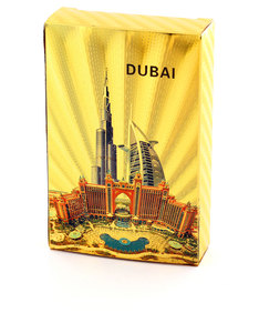 Dubai Luxury Landmarks Gold Foil Plated Playing Cards