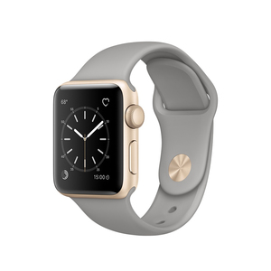 Apple Watch Series 1 Sport Band Concrete Gold Aluminium Case 38mm
