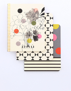 Carolina Gardner Pina Colada Notebooks Large [Set Of 3]