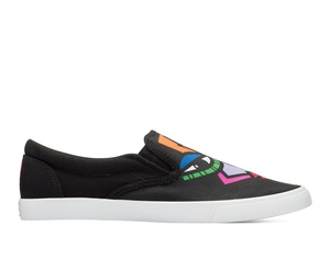 Bucketfeet The Duo Black Low Top Women's Canvas Slip-Ons