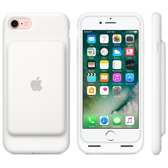the latest 4168f a0f9b Apple Smart Battery Case White iPhone 8/7