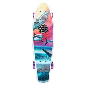 Maui and Sons Printed PU Kicktail in Wave Predators Skateboard