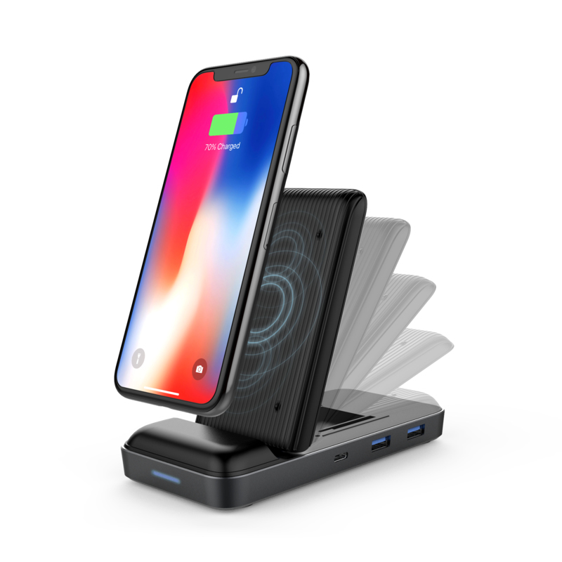 HYPER HyperDrive 7.5W Wireless Charger USB-C Hub Charger