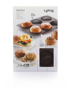 Lekue Bread Roll Baking Mould [6 Rolls]