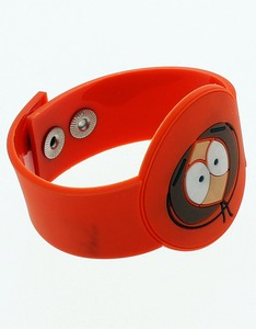 South Park Kenny Diecut Orange Wristband [3 Pack]
