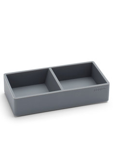 Poppin Inc Softie This & That Tray Dark Gray